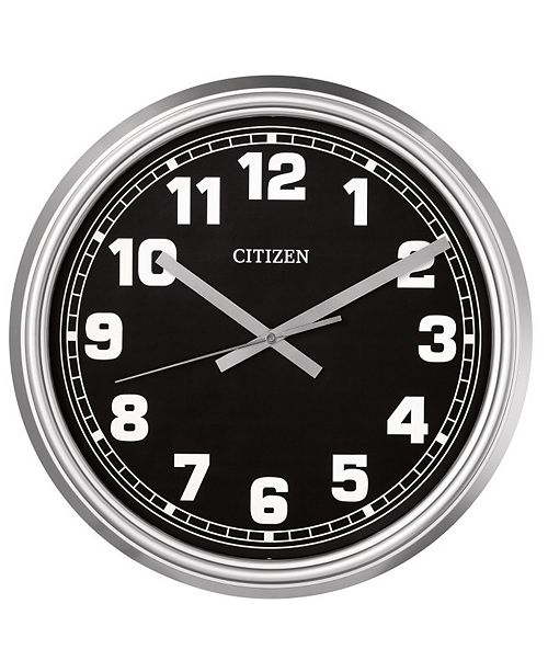 Citizen Gallery Indoor/Outdoor Silver-Tone Wall Clock