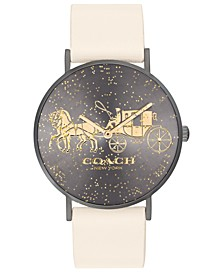 Women's Perry Chalk Leather Strap Watch 36mm