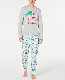 Matching Men's Tropical Santa Pajama Set, Created for Macy's
