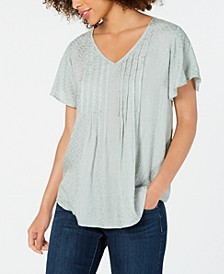 Textured Flutter-Sleeve Top, Created for Macy's