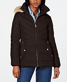 Hooded Faux-Fur-Trim Down Puffer Coat, Created for Macy's