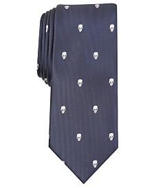 I.N.C. Men's Skinny Skull Neat Tie, Created for Macy's