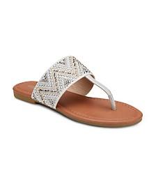 Olivia Miller Revved Up and Ready Studded Sandals
