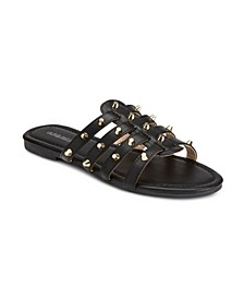 Livin My Best Life Studded Sandals