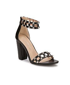 Olivia Miller Edgewood Multi Studded Heel Sandals