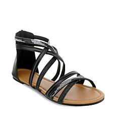 Olivia Miller Stuart Glitter Rhinestone Sandals