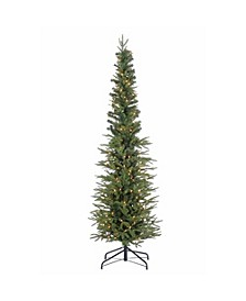 6.5Ft. Natural Cut Narrow Lincoln Pine with 200 Clear Lights