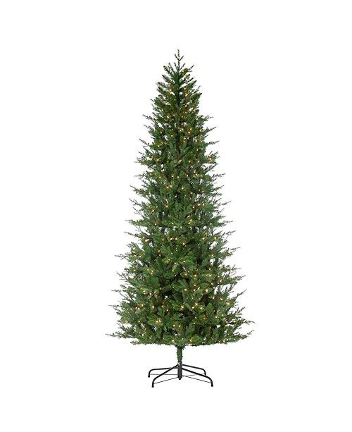 Sterling 9-Foot High Pre-Lit Natural Cut Manitoba Pine with Clear White Lights