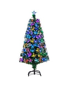 4-Foot High Fiber Optic Color-Changing Tree