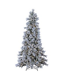 9ft. Pre-Lit Lightly Flocked Snowbell Pine with 900 Twinkling Lights