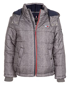 Tommy Hilfiger Toddler Boys Detachable Hood Puffer Jacket