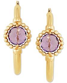 Amethyst (1-1/2 ct. t.w.) Hoop Earrings in 10K Yellow Gold