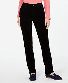 Petite Lexington Tummy-Control Corduroy Pants, Created For Macy's