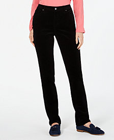 Charter Club Petite Lexington Tummy-Control Corduroy Pants, Created For Macy's