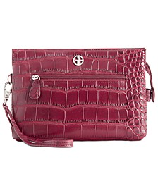 Croc-Embossed Crossbody Wallet, Created for Macy's