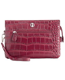 Giani Bernini Croc-Embossed Crossbody Wallet, Created for Macy's
