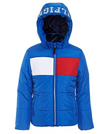 Little Girls Flag Puffer Jacket