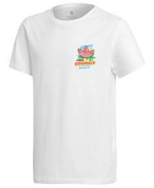 adidas Big Boys Printed Cotton T-Shirt