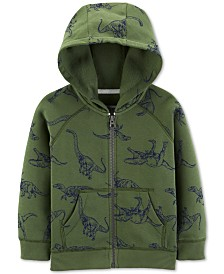 Carter's Toddler Boys Dinosaur-Print Zip-Up Fleece Hoodie
