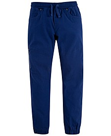 Big Boys Slim Tapered-Fit Stretch Twill Moto Joggers