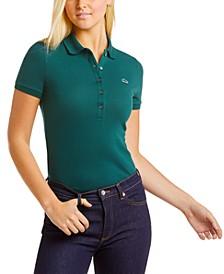 Short Sleeve Slim Fit Stretch Pique Polo Shirt