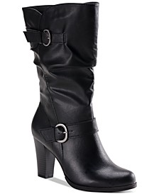 Sachi Block-Heel Mid-Shaft Wide Calf Boots, Created for Macy's