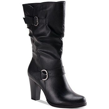Style & Co Sachi Block-Heel Mid-Shaft Boots
