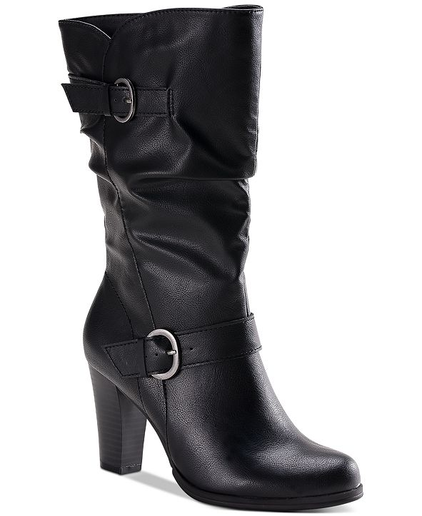 Style & Co Sachi Block-Heel Mid-Shaft Boots, Created for Macy's