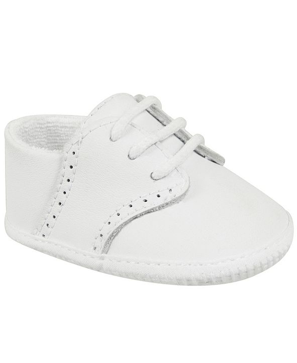 Baby Deer Baby Boy Leather Saddle Oxford with Perforations