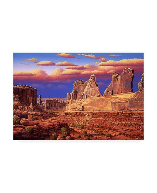 "Trademark Global R W Hedge Blue Horizon Canvas Art - 36.5"" x 48"""