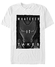 Marvel Men's Avengers Endgame Iron Man Whatever It Takes Short Sleeve T-Shirt