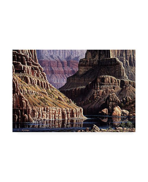 "Trademark Global R W Hedge Walls Apart Canvas Art - 15.5"" x 21"""