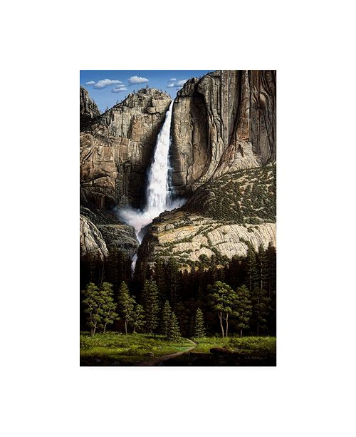 "Trademark Global R W Hedge Water Dance Waterfall Canvas Art - 15.5"" x 21"""