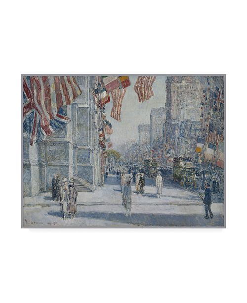 """Trademark Global Childe Frederick Hassam Early Morning on the Avenue in May 1917 Canvas Art - 36.5"""" x 48"""""""