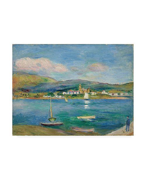 """Trademark Global Pierre Auguste Renoir Port de peche, Vue de Fontarabie depuis Hendaye Canvas Art - 36.5"""" x 48"""""""
