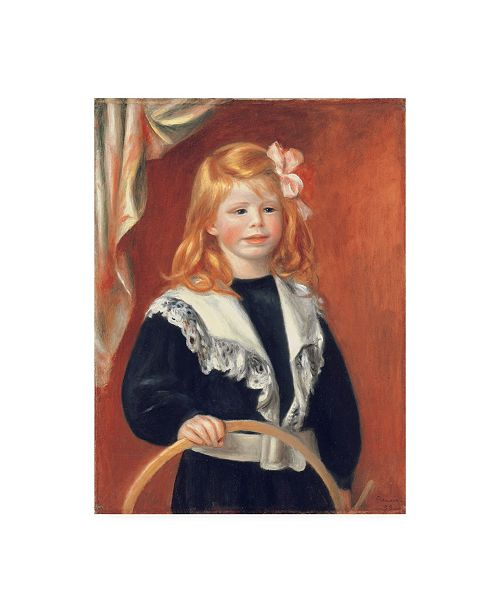 "Trademark Global Pierre Auguste Renoir Portrait de Jean Renoir Canvas Art - 15.5"" x 21"""