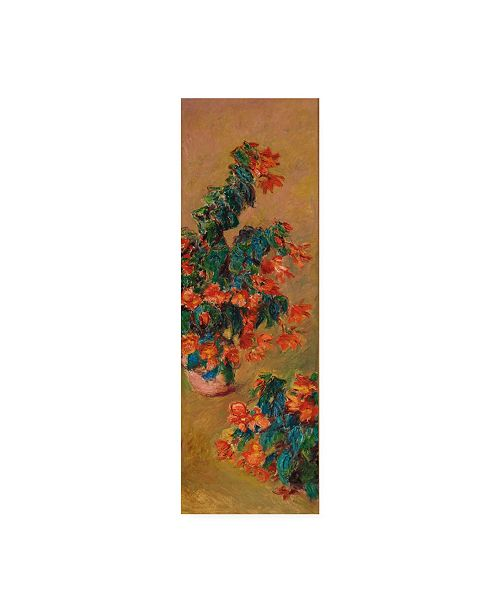 "Trademark Global Claude Monet Azaleas rouges en pot Canvas Art - 36.5"" x 48"""