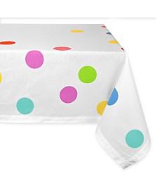 """Design Imports Confetti Print Tablecloth 52"""" x 52"""""""