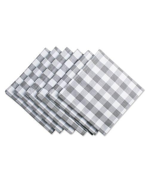 Design Import Checkers Napkin Set of 6