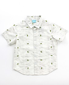Boy's Printed Button Down Shirt