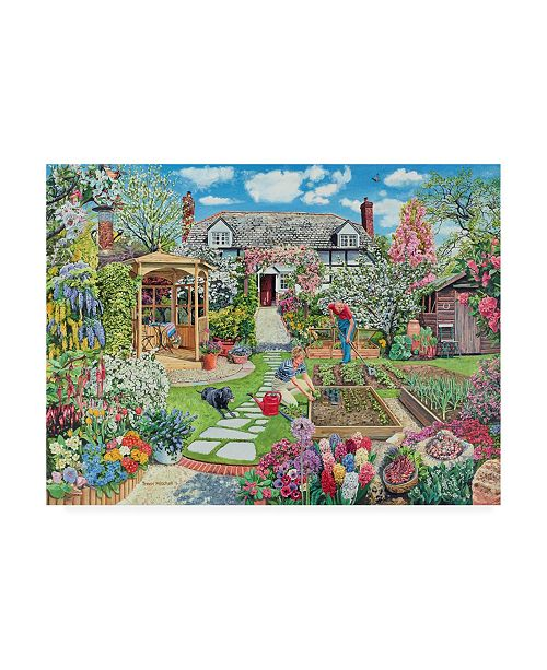 "Trademark Global Trevor Mitchell A Spring Garden Canvas Art - 36.5"" x 48"""