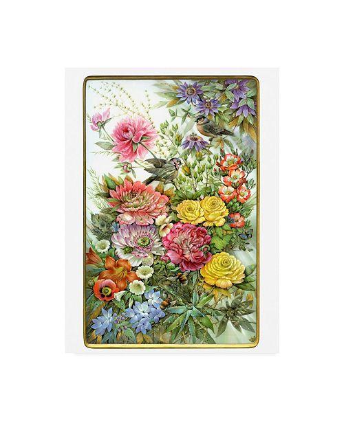 "Trademark Global Tania Fedorova Birds and Florals Canvas Art - 36.5"" x 48"""