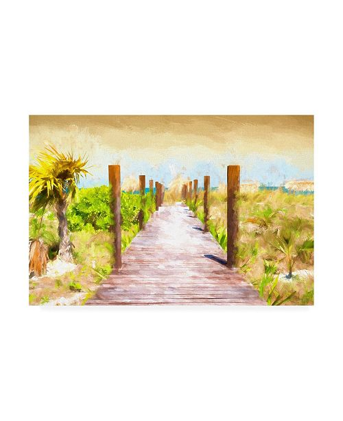 "Trademark Global Philippe Hugonnard Boardwalk on the Beach at Sunset Canvas Art - 27"" x 33.5"""
