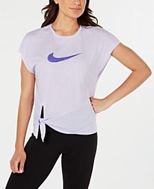 Women's Dri-FIT Logo Side-Tie Training Top