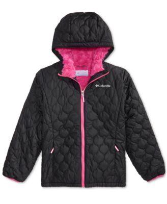 NEW Columbia Toddler Girls  Purple Winter Waterproof Hooded Jacket Coat $90.00