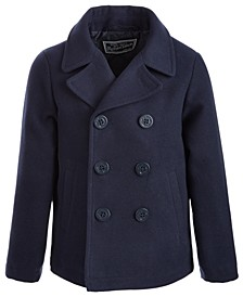 Toddler Boys Faux-Wool Peacoat