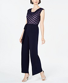 Glitter Illusion Wide-Leg Jumpsuit