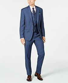Men's Classic-Fit UltraFlex Stretch Blue Birdseye Suit Separates