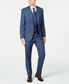 Lauren Ralph Lauren Men's Classic-Fit UltraFlex Stretch Blue Birdseye Suit Separates
