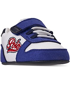 Polo Ralph Lauren Infant Boys' Oryion Script Stay-Put Closure Crib Booties from Finish Line